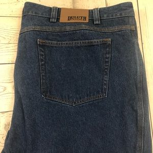 Duluth W48 x L28 Blue Relaxed Fit Denim Jeans